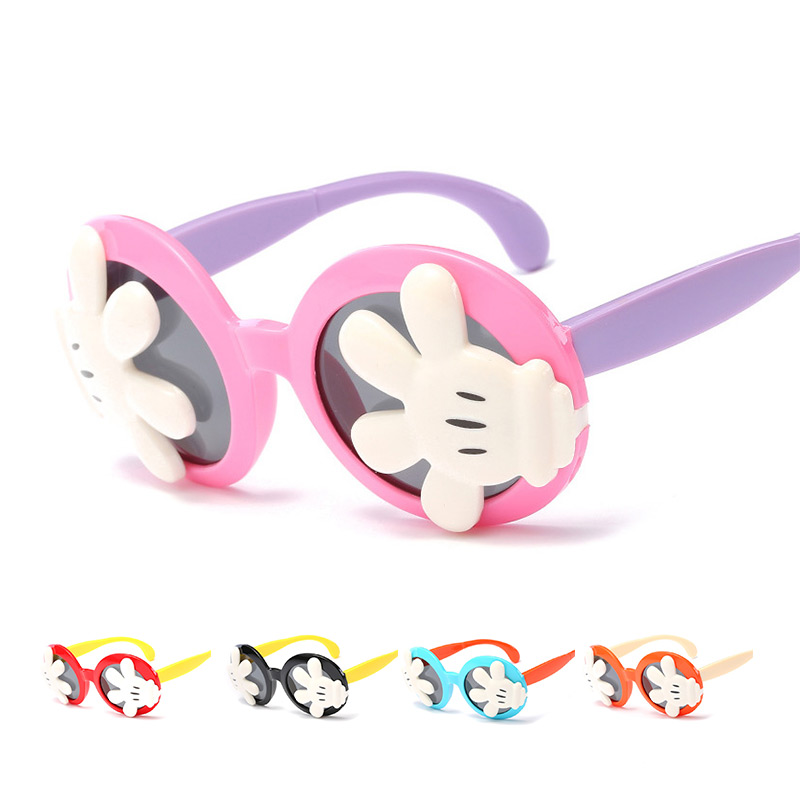 2018 New Girls Boy 6 Colors Cartoon Cat Anti UV400 Eyeglasses Toddler Baby Sunglasses Kids Summer Toys Protect Eyes