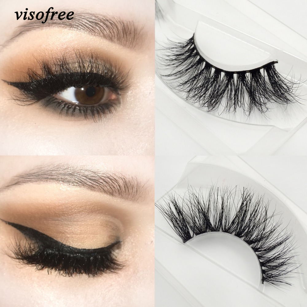 Visofree Eyelashes 3D Mink Eyelashes Long Lasting Mink Lashes Natural Dramatic Volume Eyelashes Extension False Eyelashes A21