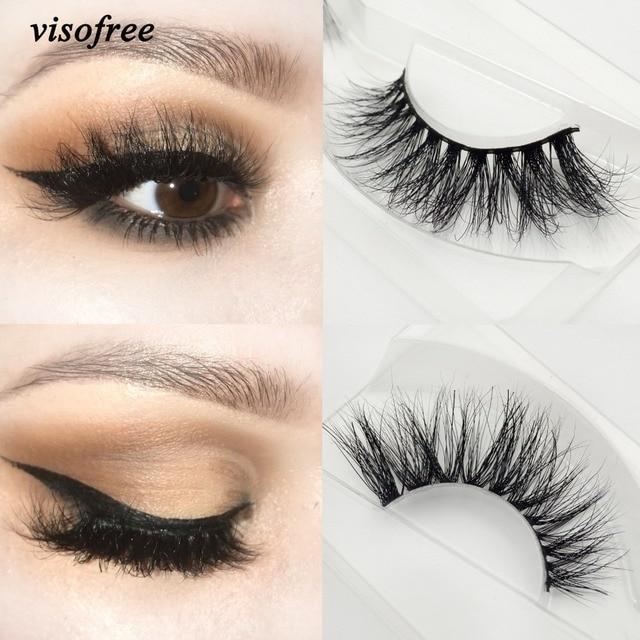 US $2 3 49% OFF Visofree eyelashes 3D mink eyelashes long lasting mink  lashes natural dramatic volume eyelashes extension false eyelashes A21-in  False