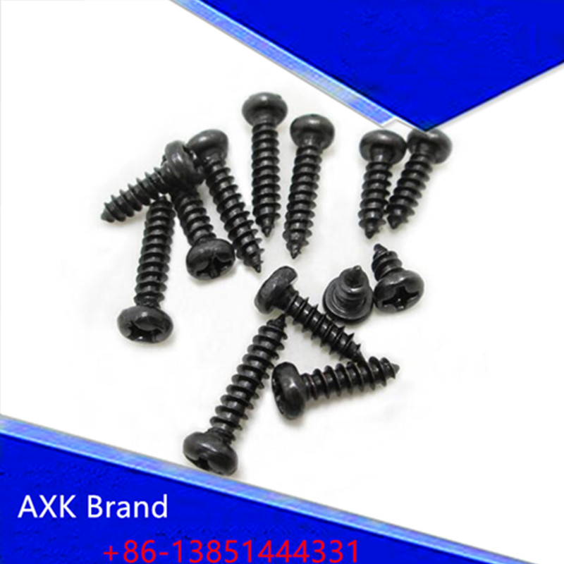 50pcs M3*18 PA Phillips Head Micro Screws Round Head Self-tapping Electronic Small Wood Screws AXK04 niko 50pcs chrome single coil pickup screws