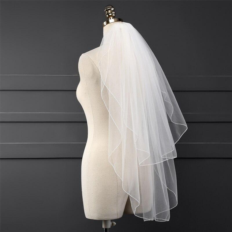 6cbe8391e3 ... dos capas 2019 accesorios de boda veu de noiva velo de novia corto de  mariee sluier. 1) Incluya sus peticiones especiales (color