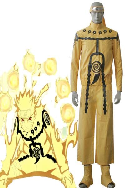 naruto uzumaki naruto nine tails chakra mode cosplay costume in