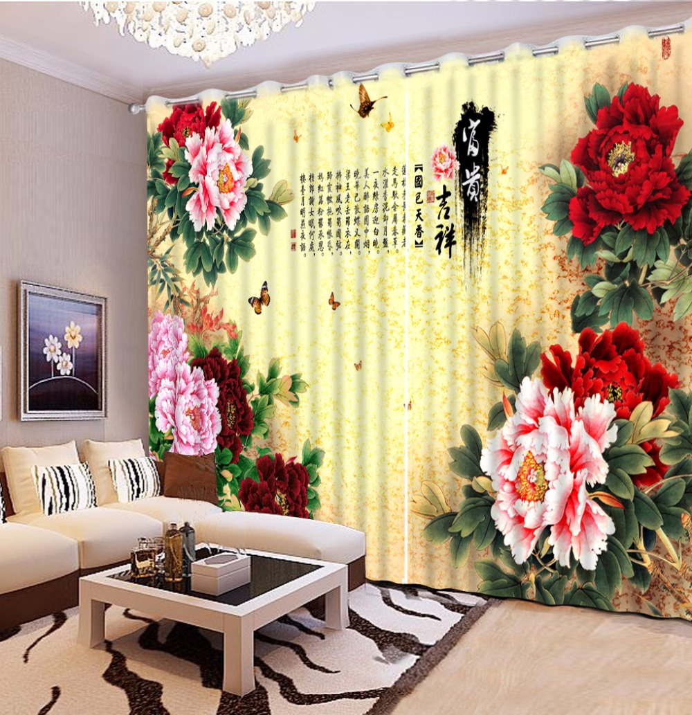 3D Photo Window Curtain Blackout Curtains For The Living Room Bedroom Flower Design Kitchen Curtains Cortinas3D Photo Window Curtain Blackout Curtains For The Living Room Bedroom Flower Design Kitchen Curtains Cortinas