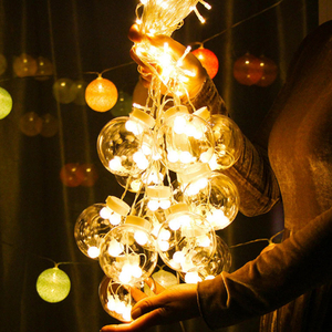 Image 4 - Fairy Garland LED Ball String Lights For Wedding Christmas Birthday Party Festival Decor LED Lights Decoration Curtain Lights