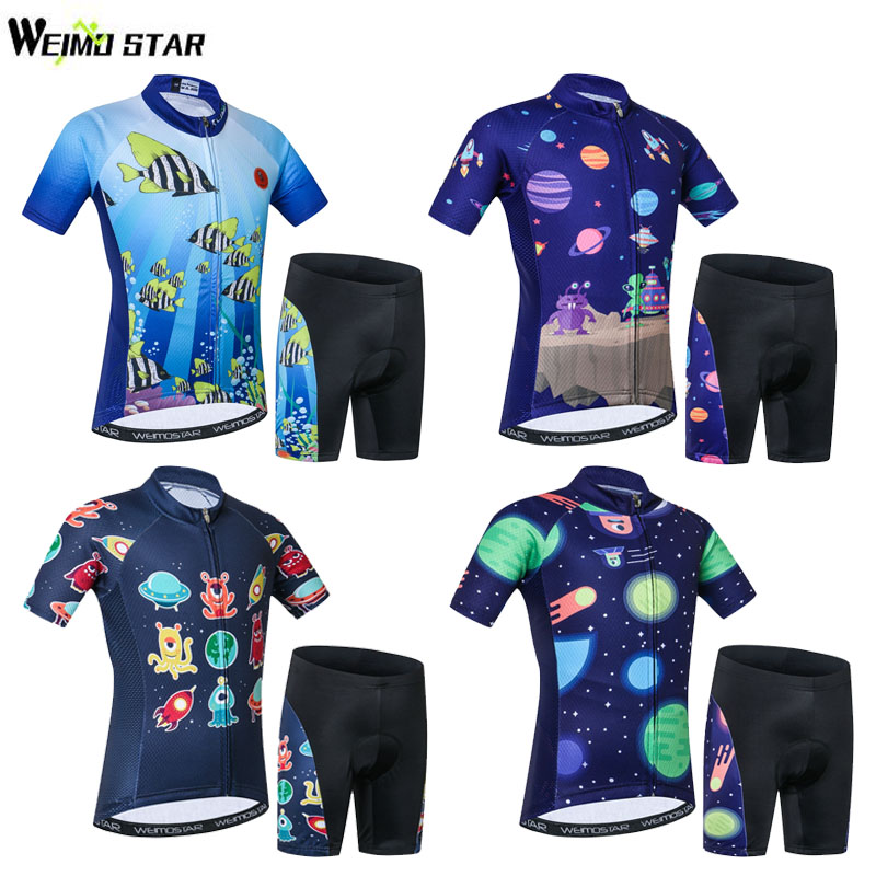 WEIMOSTAR Cycling Jersey Children/'s Bicycle Short Clothing Sportswear Bike Sets