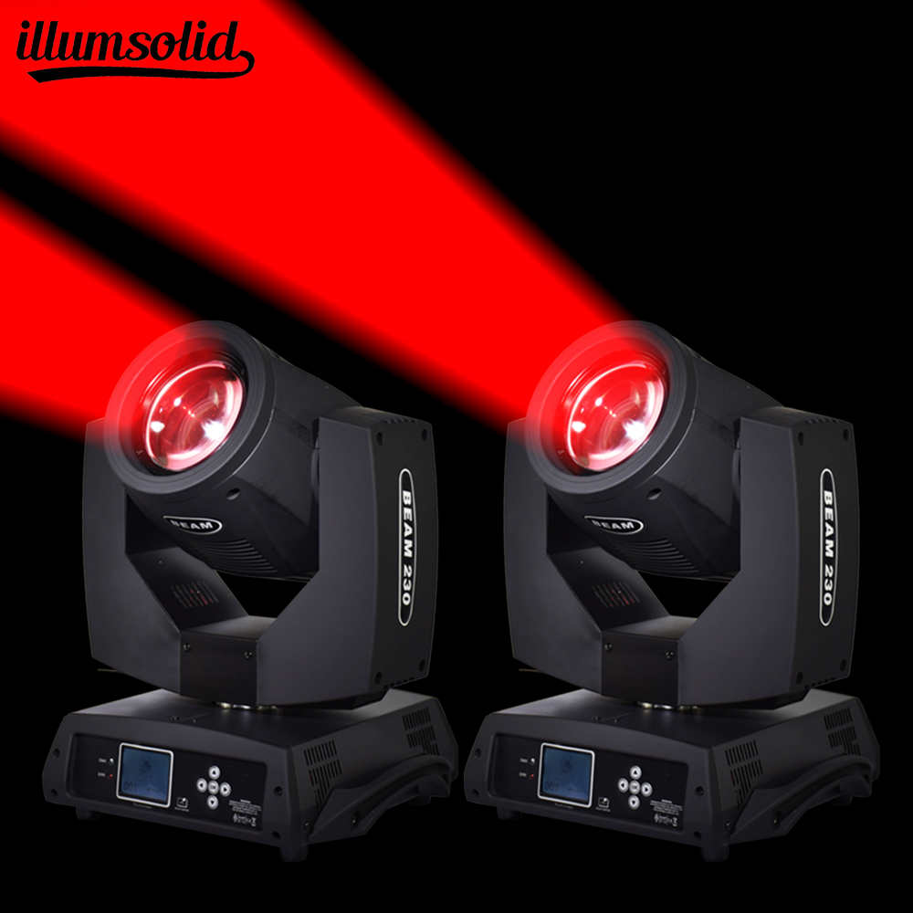 2Pcs lot Stage Lighting Beam Spot 230W Moving Head DMX 7r Bulb 14 Colors Gobo for