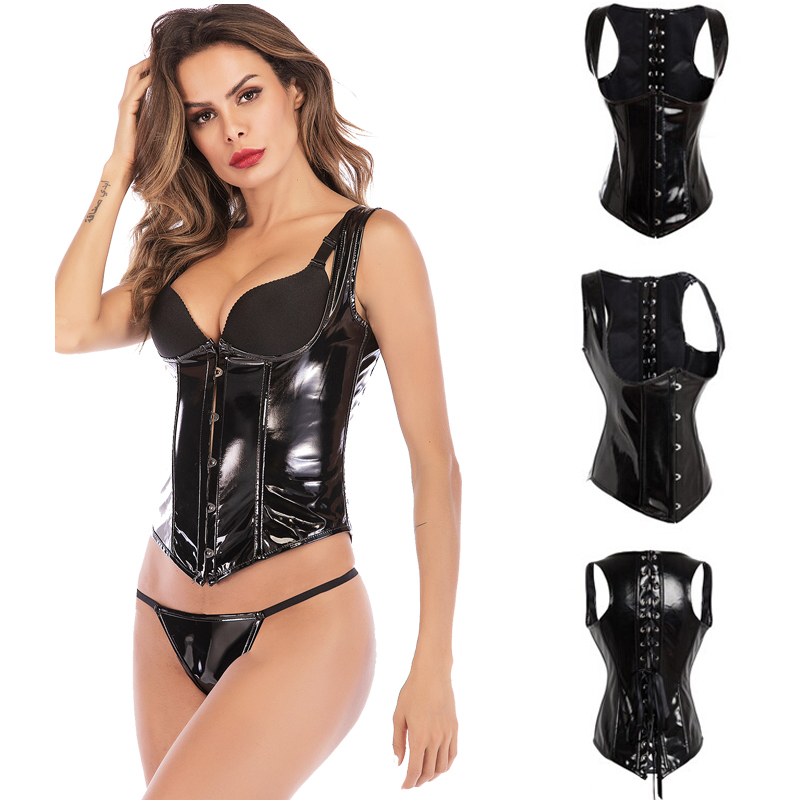 Steampunk   Corset   With Steel Boned Lace up Back Sexy Body   Bustier   Overbust   Corset   Women Waist Cincher   Corsets   Black S-6XL