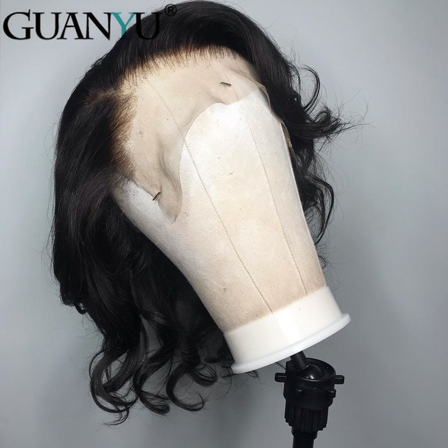 Wave Lace Front Human Hair Wigs For Black Women Pre Plucked With Full Frontal Baby Hair