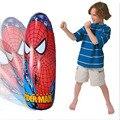 Inflável homem aranha dos desenhos animados crianças esporte brinquedo inflável de copo Bop saco de ferramentas de treinamento de perfuração Roly Poly