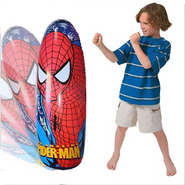 Inflatable Cartoon Spider Man Kids Toy Sport Inflated