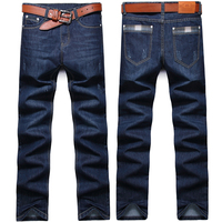 Men S Jeans 2018 Spring Men S Straight Slim Fashion Business Casual Trend Scratched Jeans Plus