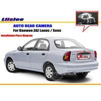 Liislee License Plate Light Camera / HD CCD Night Vision / Car Rear Camera / Reverse Camera For Daewoo ZAZ Lanos / Sens