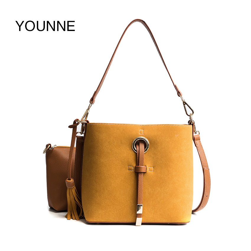 YOUNNE Women Leather Handbag Female Fashion Shoulder Bag Lady Casual Messanger Bags Packet Purses and Handbags Brown Brand luxe ...