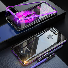 Luxury Full Body Protective Magnetic Case For huavei P30Lite Case 360 Transparent Tempered Glass Cover For Huawei P30 Lite Case(China)