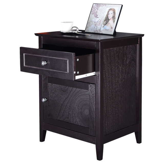 Schlafzimmer Nachttisch | Giantex Accent Ende Tisch Moderne Holz Schlafzimmer Nachttisch