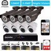 Eyedea 8 CH Phone View Motion Detect HDMI DVR 2 0MP 1080P Bullet Dome Outdoor Video