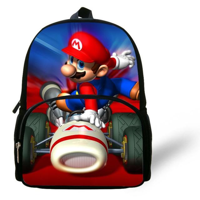 fotos oficiales 3070f 9f038 € 15.08 17% de DESCUENTO|Mochila de 12 pulgadas para niños, Mochilas  Escolares, mochila de Super Mario para niños, niñas, guardería, dibujos  animados, ...