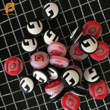 Free Shipping- 20 pcs/lot Red Eyes & G Dot Tennis Racket Vibration Dampeners Tennis Racquet Shock Damper