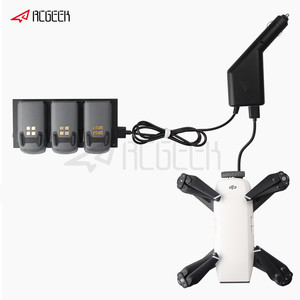 Image 1 - 2 in 1 Car Charger for DJI Spark Part 7 Battery Charging Hub and Remote Control for DJI Spark Drone Accessories
