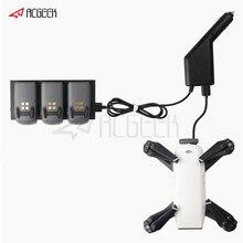 2 in 1 Car Charger voor DJI Spark Deel 7 Batterij Opladen Hub en Afstandsbediening voor DJI Spark Drone accessoires