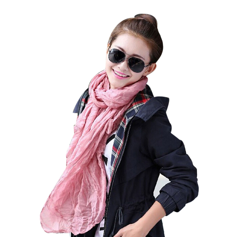 Women's   Scarves   Solid for Girl Candy Color chiffon Female   scarf     Wrap   Shawl Pashmina   Scarves   in NIne Colour