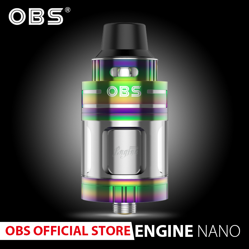 Original Obs Rta Atomizer Engine Nano With 5.3ml Tank  And Pom Drip Tip Vape Tank E- Cigarettes Vaporizer Vape Rta