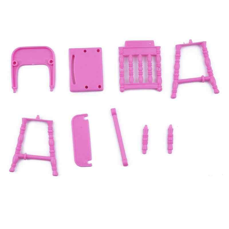 Детский портативный розовый игрушечный стульчик для кормления детские игрушки кукла для девочек домашняя мебель игрушки для детей аксессуары для кукол