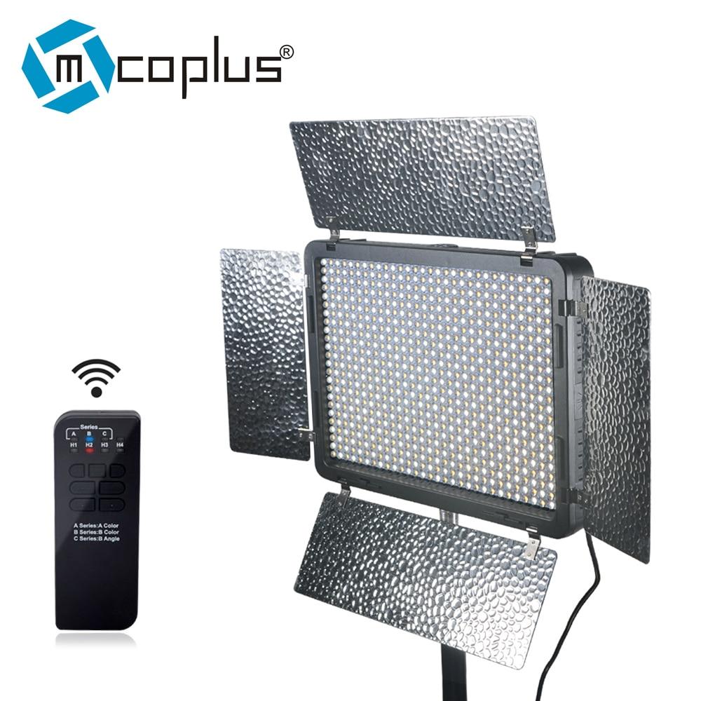 Mcoplus LED-720 Bi-color LED Light 720PCS LED Lamp 3200K-7500K Color Temperature 4700LM Video Light for Canon Nikon Sony Cameras mcoplus 260 bi color led video light lamp temperature adjustment for dv camcorder