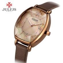 2017 Relogio feminino Для женщин Montres лучший бренд класса люкс JULIUS Кварцевые наручные часы erkek коль saati часы женские часы Reloj Mujer