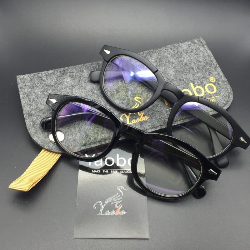 e379887c95 Retro Vintage Optical Eyeglasses Fashion Top Johnny Depp Glasses Frame Men  Women Myopic Glasses Frame oculos