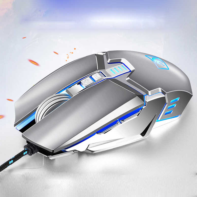 be1e18337fa Darshion S10 Gaming Mouse 2400DPI 7 Buttons LED USB Optical Wired Metal  Backlit Mouse Professional Macro