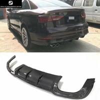 A3 S3 style Carbon Fiber rear bumper lip diffuser for Audi A3 rear bumper 16 17
