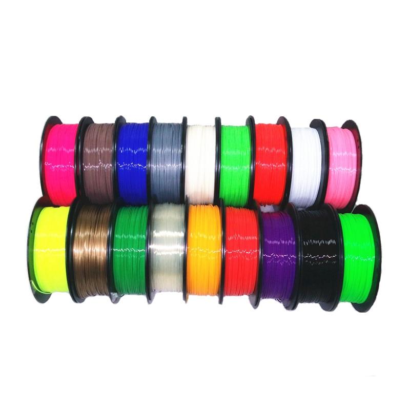 3D Printer Filament 1.75 1KG Multi-colors PLA Plastic Filament Materials for MakerBot/RepRap/UP/Mendel 44 kinds colours 3d printer filament 1kg 2 2lb 3mm pla plastic for mendel black