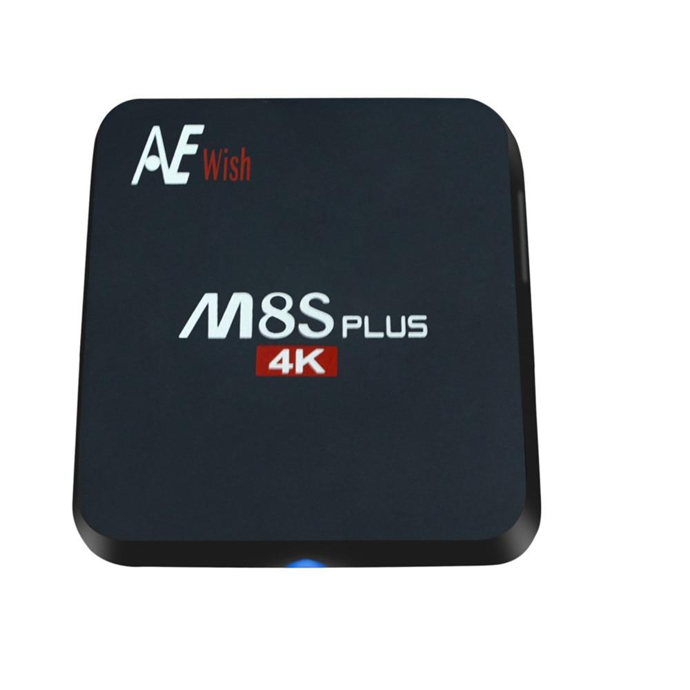 ANEWKODI android tv box M8S PLUS m8s Quad Core font b Smart b font TV Amlogic