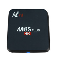 ANEWKODI m8s android tv box M8S PLUS + Quad-Core Smart TV Amlogic S905 KODI 16.0 4 K 2G/16G WIFI Full HD Android 5.1 Media jugador