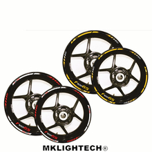12 X Thick Edge Outer Rim Sticker Stripe Wheel Decals Motorcycle FIT BMW F700GS F 700GS ADVENTURE