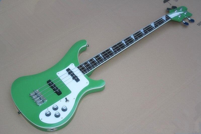Новое поступление 4 Strings зеленый Ricken 4004 бас-гитара Китай музыкальный инструмент в наличии --- 17-11 ---