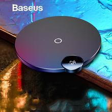 Baseus LED Digital Display Wireless Charger for Samsung S8 Note 9 Xiaomi Mi 9 Qi Wireless Charging Pad for iPhone XS Max XR X 8