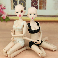 2018 New 1/4 Nude XINYI Doll / Original Doll 3D eyes with make up Double Knee Joint Cosplay DIY for 1/4 BJD SD Doll girls gift