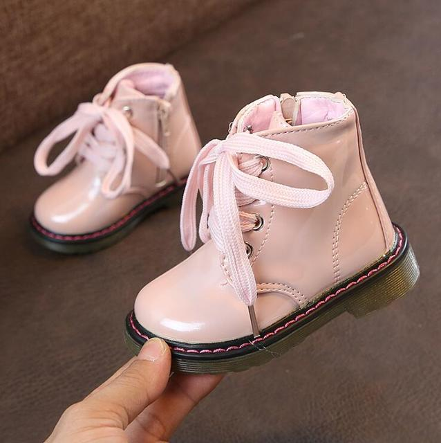 New Autumn Kids Snow Boots Children's Winter Ankle Winter Girl Boots Unisex PU Leather Shoes For kids Snow Shoes