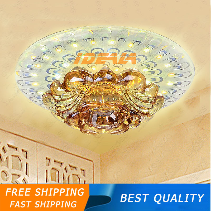 2016New 9w k9 crystal lamp led downlight corridor <font><b>lights</b></font> background wall <font><b>light</b></font> Indoor <font><b>light</b></font> AC95-265V free shipping