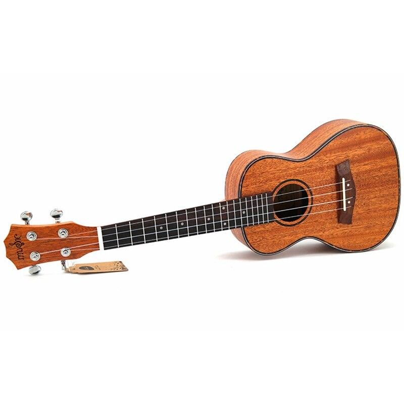 Kits de Concert ukulélé 23 pouces acajou Uku 4 cordes guitare avec sac accordeur Capo sangle pique pics pour débutant instrument Musical - 2