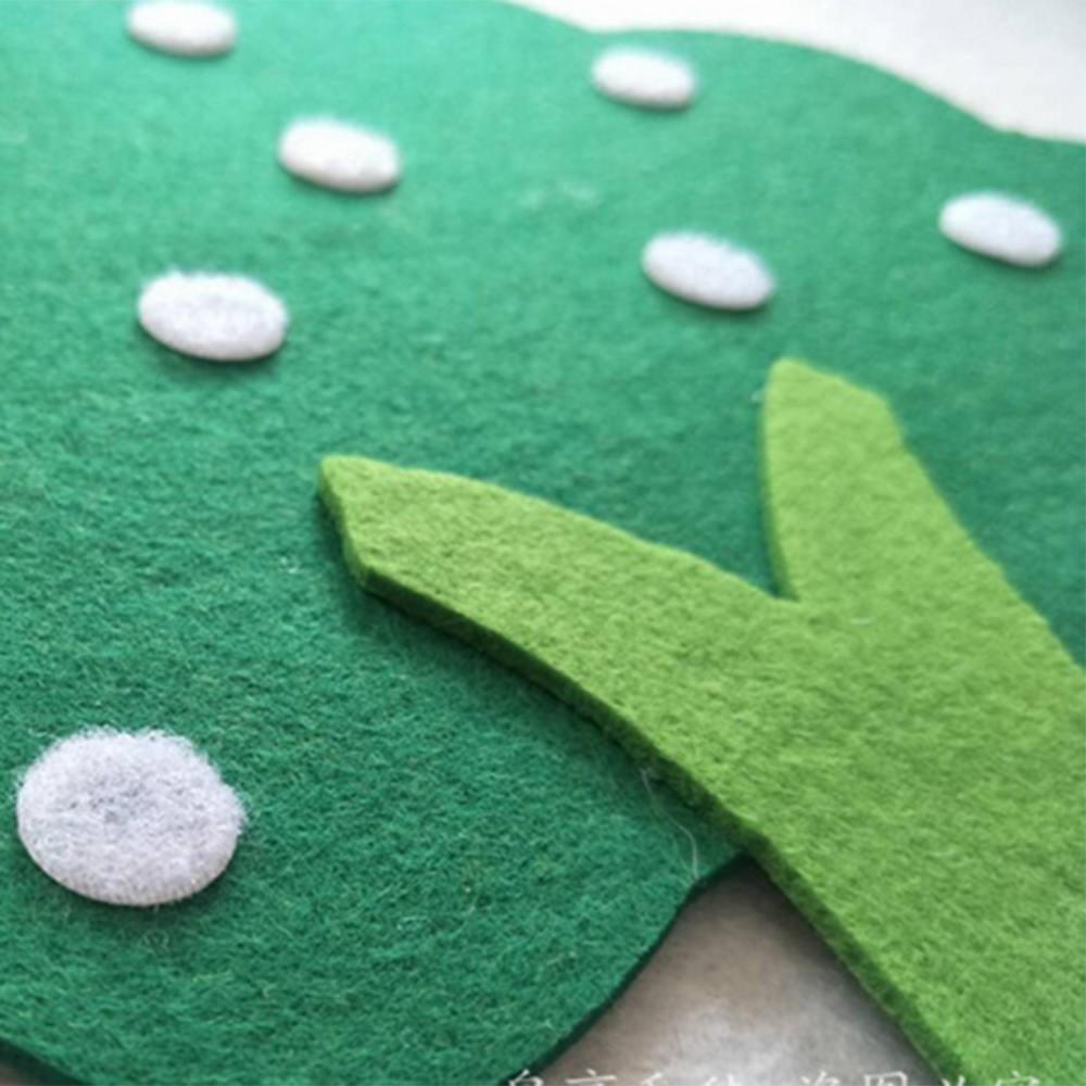 Felt Cloth DIY Children Educational Toy Durable Digital Cognitive Child Montessori Education Supplies Apple Tree Toys Kids Gifts