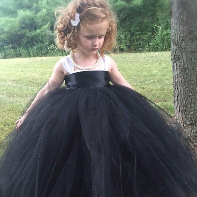 Prinzessin Tutu Pageant Blumenmädchen Tutu Kleid Schwarz Weiß ...
