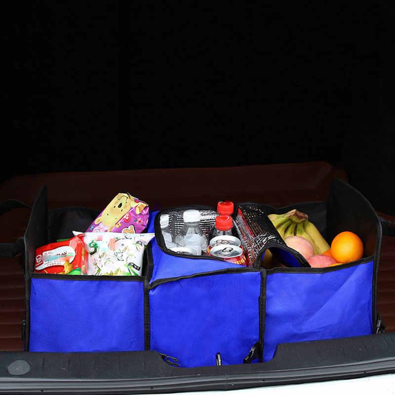 أكسفورد القماش سيارة جذع التشطيب حزمة دائم ، متعددة الأغراض طوي 3 شبكة سيارة صندوق تخزين صندوق ملون ، 60x32x29 سنتيمتر