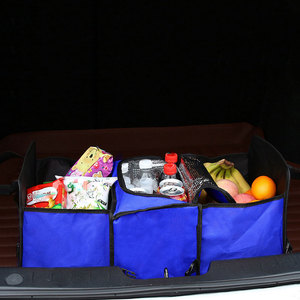 Image 2 - Oxford kumaş araba gövde bitirme paketi dayanıklı, çok amaçlı katlanabilir 3 ızgara araba saklama kutusu soğutucu kutu, 60x32x29cm