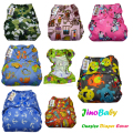 JinoBaby Newborn Diaper Cover Waterproof One Size Cloth Diaper Covers Fits for 3KGS TO 15KGS