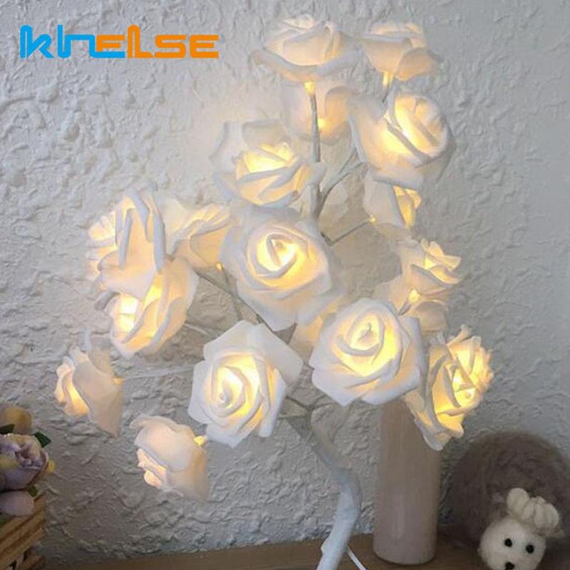 Llamba LED Tela trëndafilash Dritat LED Garland Dritat e - Ndriçimi i pushimeve - Foto 4