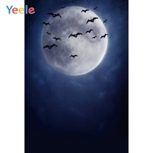 Yeele Moon Bats Halloween Party Wallpapers Portrait Photography Backdrops Personalized Photographic Backgrounds For Photo Studio