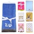 76*102 cm Super Suave de Poliéster Manta de Bebé ropa de Cama Cuna Infantil de Dibujos Animados Mono Oso Conejo Manta Recién Nacido Regalo Para la Muchacha del muchacho